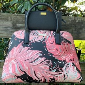 Kate Spade Feather Tropical Summer Bag Wallet Set